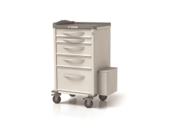 single-columned medical cart